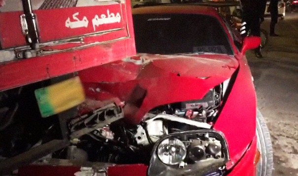 Shoib Malik's car Collided with a Truck in accident 1