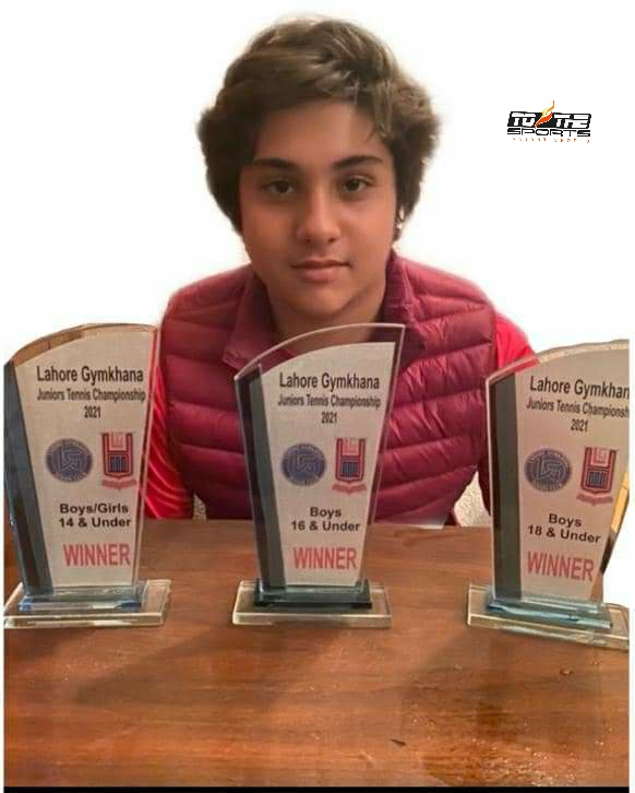 Ismail Ahmad claims triple crowns in Lahore Gymkhana Jr Tennis 1