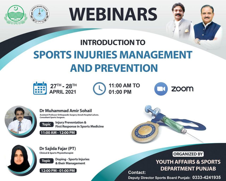 Online course on sports injuries at PSB 1